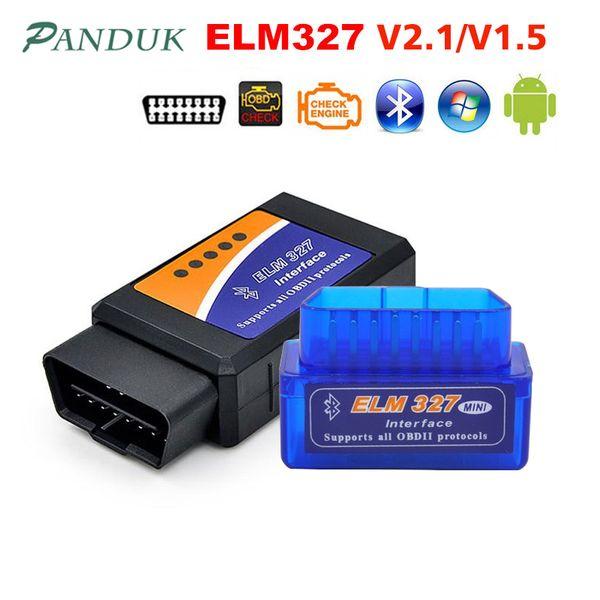 PANDUK Newest ELM327 V1.5 Bluetooth OBD2/obd ii v2.1 Car Diagnostic Car Tools Android Auto Diagnostic Tool Obd2 Scanner