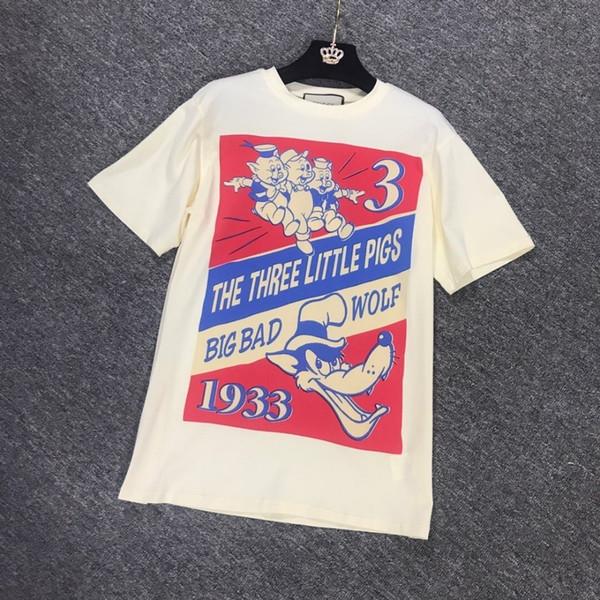 Bayanlar Kısa Kollu Üç Küçük Domuz Yeni Yıl Sınırlı Hatıra Kısa Kollu T-Shirt