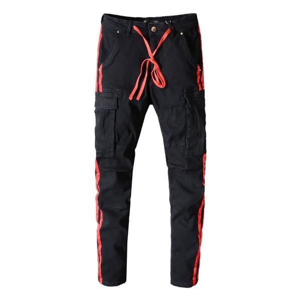 Ami jeans pantalones para hombre estilo oscuro para hombre jeans de diseño parche de mezclilla de alta calidad pantalones holed moda increíble increíble tamaño 28-40