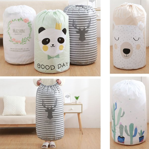 Large Capacity Quilt Storage Bags Moisture Proof waterproof Bundle Drawstring Bag Clothes Sorting Closet Organizer Travel Pouch animal print