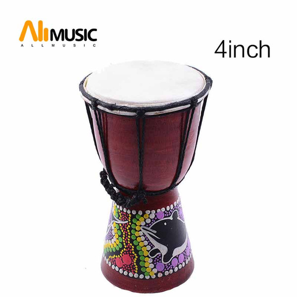 top popular African Djembe 4 Inch Percussion Hand Drum For Sale, Wooden Jambe  Doumbek Drummer 2021
