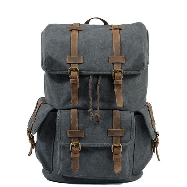 2019 nouveaux sacs européens et américains Canvas Backpack Student Backpack sac à bandoulière pour hommes grande capacité