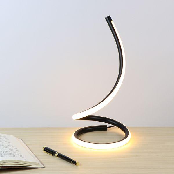 Lampada da tavolo Touch On / off Interruttore Dimmer Tavolo Led Notte Alluminio Camera da letto Accanto illuminazione decorativa Lampada da lettura Q190601