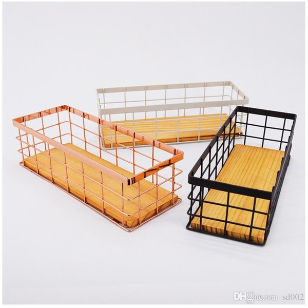 Ins Iron Art Storage Baskets Grid Desktop Placing Plant Flower Basket Sturdy And Durable Square Restoring Ancient Ways 14 9ysC1