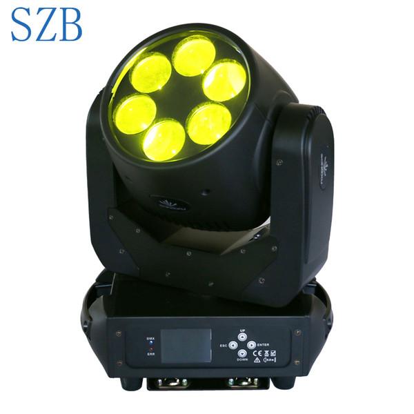 Rotation de l'objectif ultime de la lampe pivotante à tête blanche mobile 180W de 6x25W 6W avec effet de barre d'étape LED DJ Light / SZB-MH0625