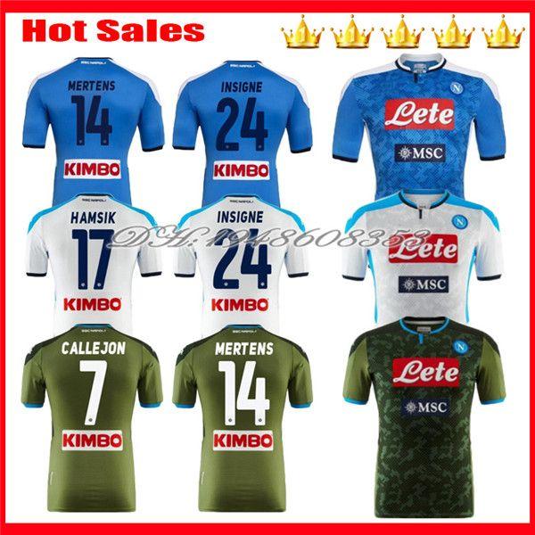 2019 2020 Napoli camisas de futebol 19 20 Nápoles KOULIBALY INSIGNE MILIK maillot de foot home away Third MERTENS HAMSIK camisa de futebol