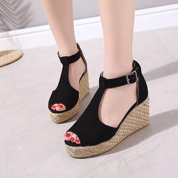 1bomlight Leopard Wedges Shoes Women Espadrilles Fish Mouth High Heels Sandals Summer Shoes Nice Flip Flop Platform Sandals 53