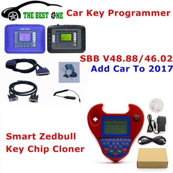 DHL Free Auto Key Programmer SBB PRO2 V48.99/V48.88/V46.02/V33.02 +Mini Zed bull V508 Transponder Chip Cloner Zedbull Key Maker