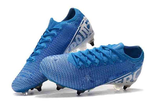 botas de fútbol para hombre Superfly 7 Elite SE FG más nuevas Botas de fútbol CR7 neymar Clavo de acero inferior Mercurial Vapors 13 Elite FG us6.5-11