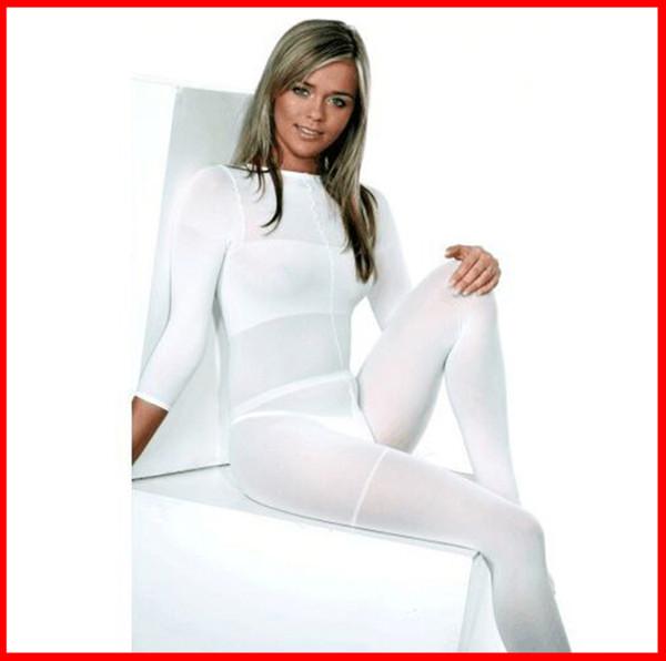 2019 nouveau costume de massage de rouleau de corps de LPG blanc / noir amincissant le costume pour la machine de thérapie de velashape