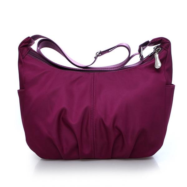 Bolsa de viaje de viaje para mujer Bolsos de mensajero para mujer hechos en nylon impermeable Mujer Hobos Casual Bolso bandolera de gran capacidad