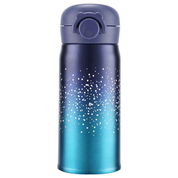 Bounce Lid Student Tea Mug Portable School Student Gift Tea Mug Thermal Bottle Stainless Steel Starry Sky Vacuum Thermal cup