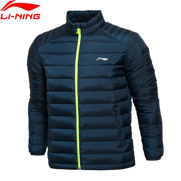 (Clearance) Men Training Short Down Coat Warm 90% White Duck Down Slim Fit LiNing Jackets AYML093 MWY269