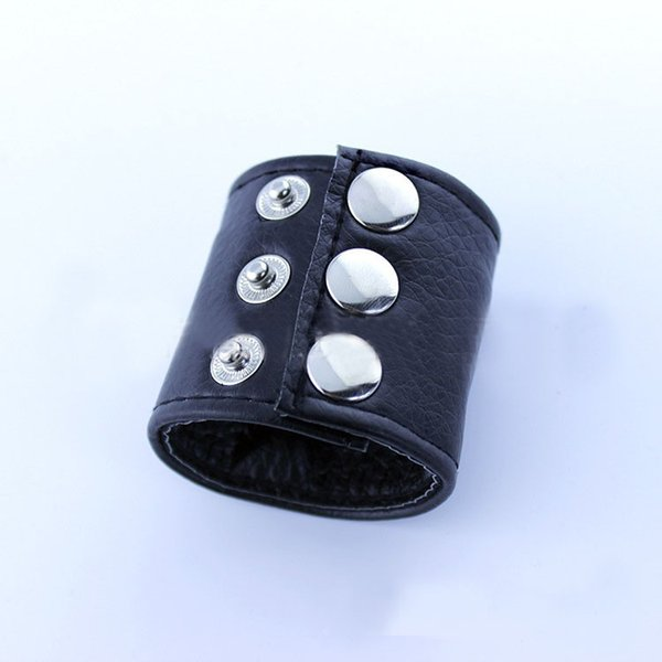 Hot Sale Black Pu Leather Penis Ring Bound Cock Rings Adjust Penis Sleeve Protection Sex Toys For Male