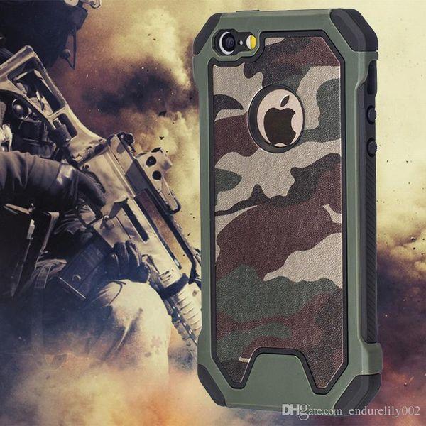 Niza Poply Funda Anti-shock Camo Verde Para Iphone Xs Max Xr X 7 8 6 6s Plus 7plus 8plus 5s 5 Se Funda Se Pc Edge Suave Tpu Hybrid Defender Coque