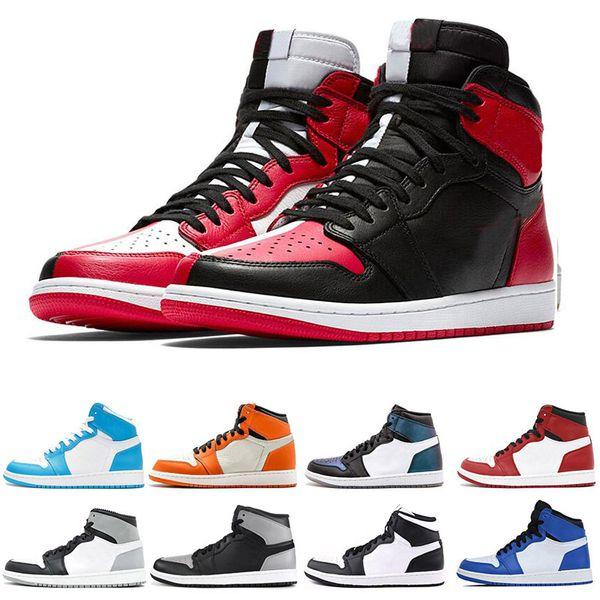 Nike Air Jordan 1 1s Fábrica Al Por Mayor 1 1s Hombres Zapatos De Baloncesto Fragmento New Love Negro Toe Gold Top 3 Pine Green Shadow Camo Chicago