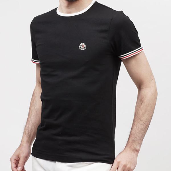 2019 простой творческий дизайн линии крест печати хлопок рубашки поло мужские ново
