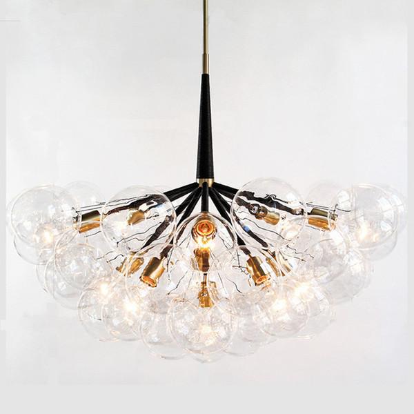 9 /12 /18 Bubbles Modern Art Molecular Glass Chandelier Fashion Designer Dinner Bedroom Kitchen Led Hanging Light Fixtures