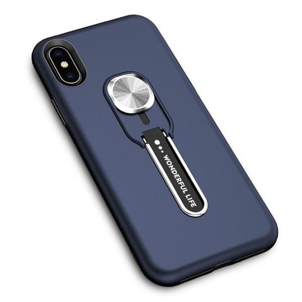 2 in 1 Hibrid Gizli Kickstand Koruyucu İnce Cep Telefonu Tampon Iphone Serisi Arka Kapak için Cep Telefonu Kılıfı