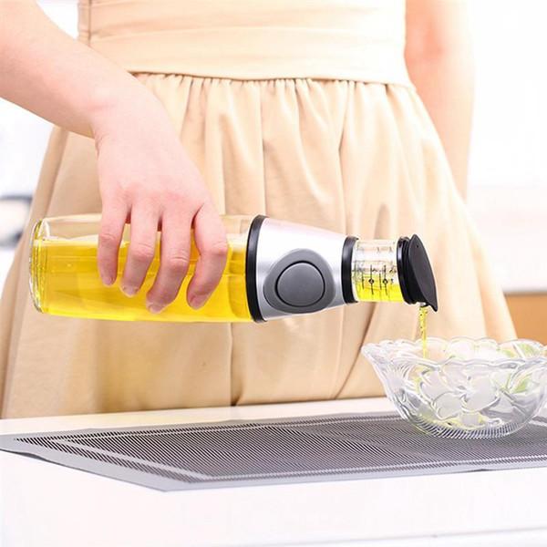 Garrafa de Tempero de cozinha 500 ml Cozinha Azeite de Oliva Vinagre Dispenser Pourer Garrafa Cozinhar Ferramentas Utensílios De Mesa À Prova de Fugas Cozinha Ferramentas