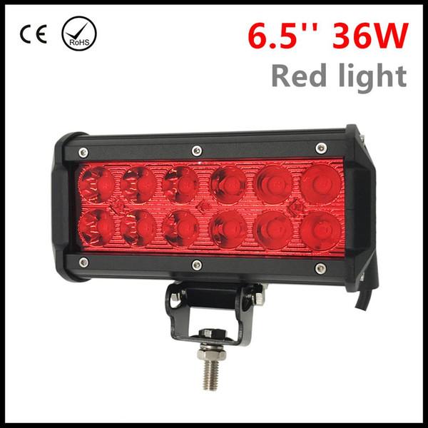 6.5 '' 36W ROUGE lumière LED travail light bar pour voiture ATV tracteur hors route 4WD bateau 4x4 SUV camion UTV moto LED faisceau faisceau 12V 24V