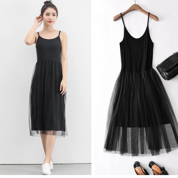 Summer Casual Dress For Women Maxi Plus Size Elegant Ladies Black White  Gray Spaghetti Bandage Comfortable Soft Lace Dresses Black Summer Dresses  ...