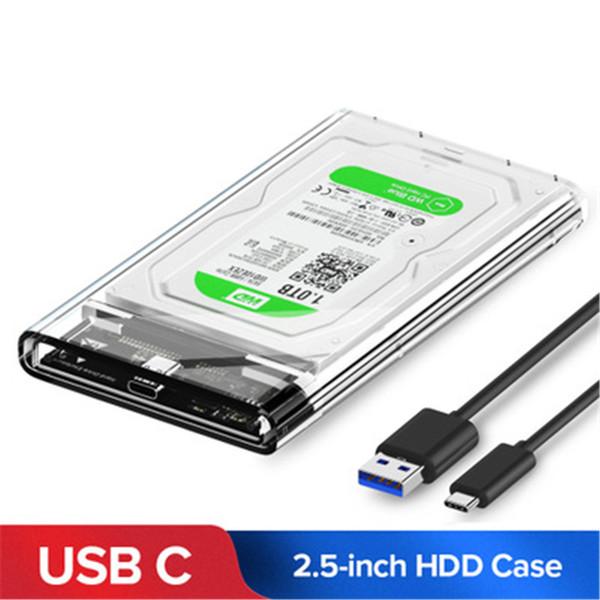 top popular 2.5 Inch USB 3.0 SATA HD Box Hard Drive Hard Drive External Hard Drive Box Transparent Box Tool 2019
