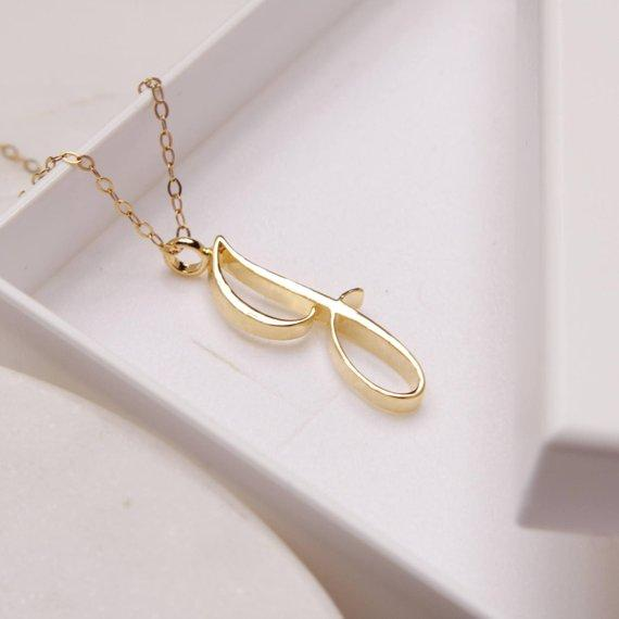 English name Initial Alphabet J Necklace tiny English Initial Letter J monogram charm Metal pendant necklace for Engagement jewelry
