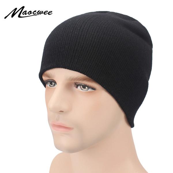 Cappelli invernali per le donne Uomo maglia Beanie Bone Black Hat Cap per ragazze di marca Hat femmina e maschio Skullies Coppie Stocking