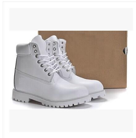 Classique Bout Rond Hommes Femmes Martin Bottes En Cuir Véritable Étanche Designer Automne Hiver Bottes Haut Supérieur Bas Chaussures Simples