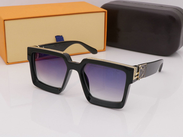 Lujo Con cajas originales Gafas de sol de montura completa Gafas de sol de diseñador vintage para hombres y mujeres Venta caliente Chapado en oro Top