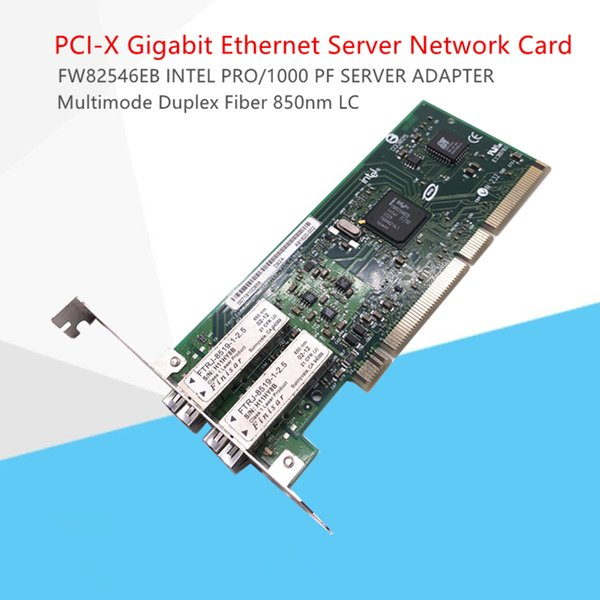 PCI-X 1000Mbps Gigabit Ethernet Server Network Card Adapter LC Optical Module EXPI9402PF INTEL FW82546EB SERVER ADAPTER