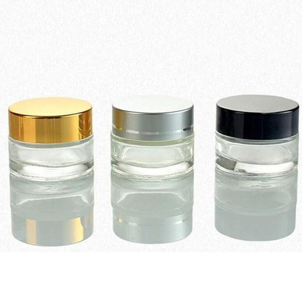5g 10g 30g 50g co metic empty jar pot eye hadow makeup face cream container bottle with black ilver gold packing bottle