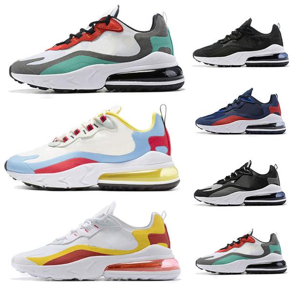 Großhandel Nike Air Max 270 React 2019 Großhandel React BAUHAUS Laufschuhe Für Männer Frauen OPTICAL Schwarz Weiß Designer Herren Turnschuhe Sport