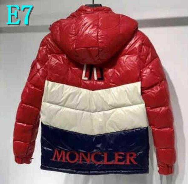 Hot Hommes d'hiver Doudoune Manteau Avec LettersMoncler Fashion Brand Manteaux Bas doudoune épais vêtements coupe-vent M-3XLE7