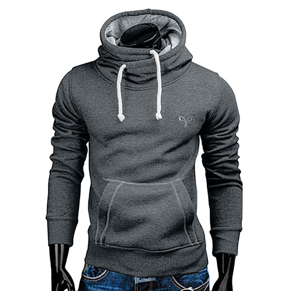 2018 новая весна осень толстовки мужчины модный бренд пуловер сплошной цвет водолазка спортивная толстовка мужская спортивные костюмы Moleton