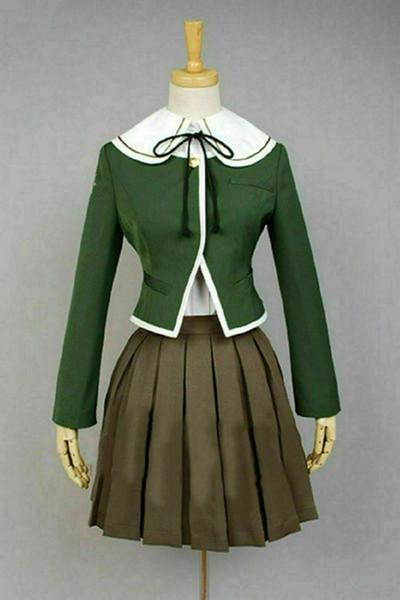 Danganronpa Dangan-Ronpa Chihiro Fujisaki Uniforme Cosplay Costume Fait Robe