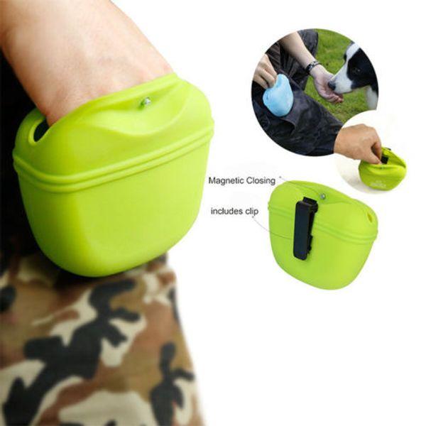 Cão de estimação Treinamento Tratar Saco de Treinamento Cachorro Andando Bolsa Clipe Sílica Gel Cinto Lado Lado Sacos Portáteis