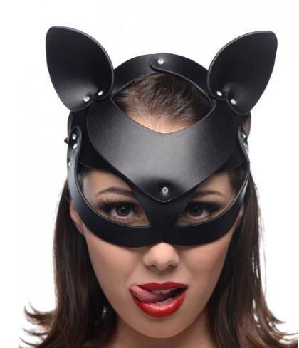 Máscara Sexy Bdsm Bondage Cap Slave Head Hood Restraints Fetish Head Hood Productos Sexuales para Parejas Juguetes Eróticos