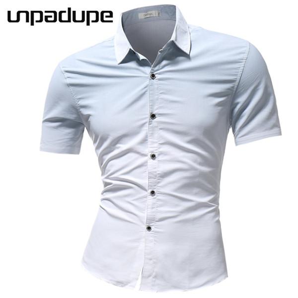 Yeni Varış Yeni Marka 2018 Erkek Gömlek Degrade Elbise Gömlek Kısa Kollu Slim Fit Camisa Masculina Rahat Erkek Hawaii Gömlek