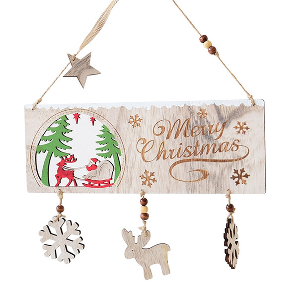 Merry Christmas Sign Hanging Board Welcome Plaque for Party Christmas Day New Year Xmas Listing Decorative