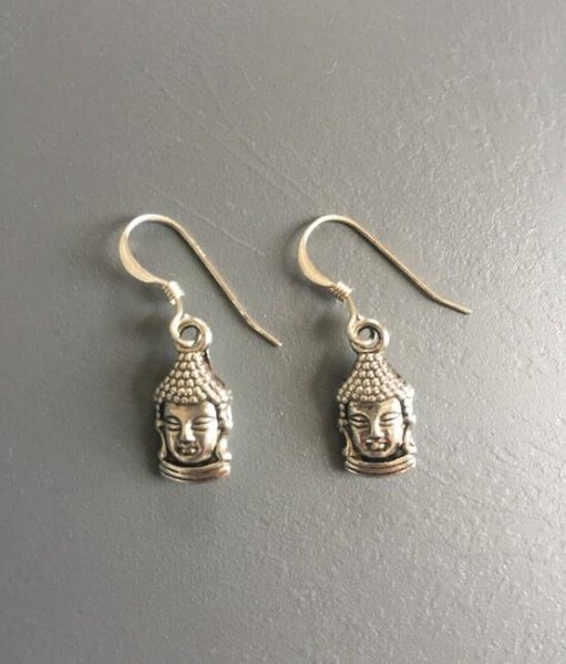 925 Sterling Silver Elephant Head Drop Dangle Earrings