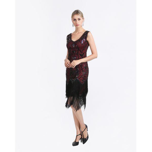 2019 Women 1920s Flapper Dress Gatsby Vintage Plus Size Roaring 20s ...
