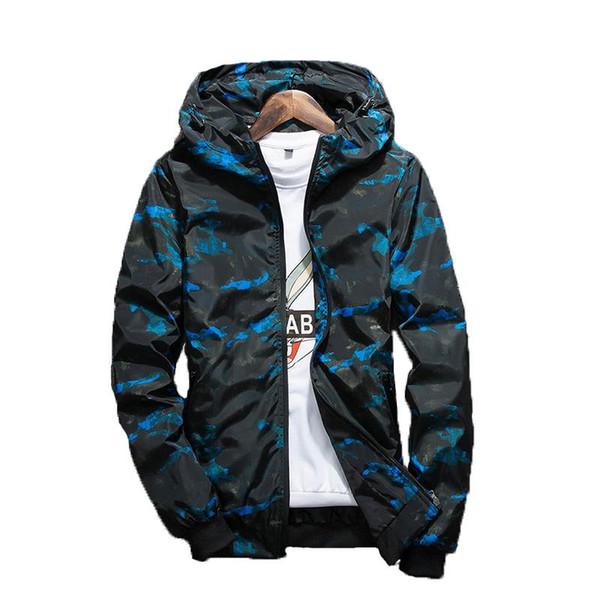 Casual Camouflage capuche Hommes Automne Printemps Veste Homme Vêtements imperméables « S coupe-vent hommes Coat Vêtements Homme Manteaux