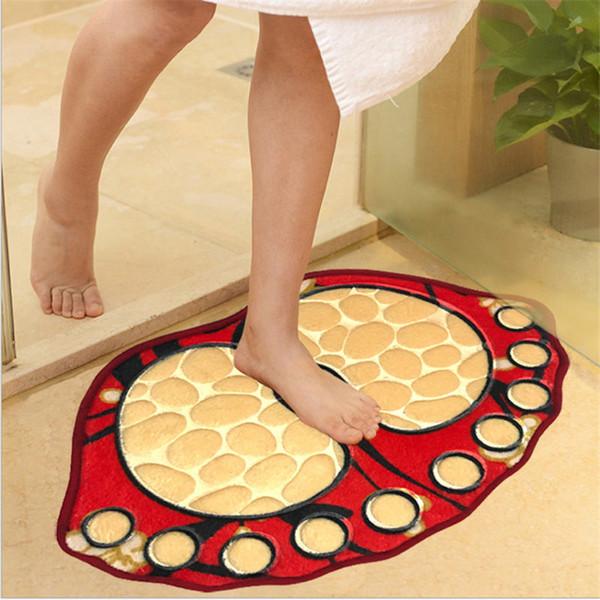 40*60CM New Bathroom Mat Pad Carpet Toilet Rug Ocean World Flannel Anti Slip Bath Mat Rugs Home Accessory
