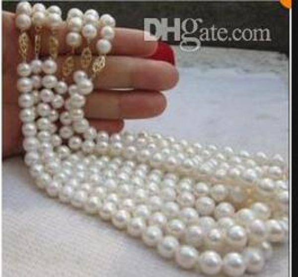 Collier de perles de Tahiti blanches 14K 18 pouces 6pcs