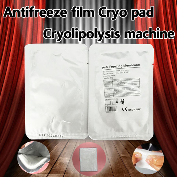 top popular DHL Free Shipping Antifreeze Membrane 28*28CM 34*42 CM 12*12CM 27*30CM Anti Freezing membrane Anti-freezing Membrane Pad for fat freezing 2019
