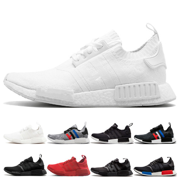 Cheap New 2019 Original Fashion running shoes men women sports outdoor sneakers High Quality black white three red blue gray