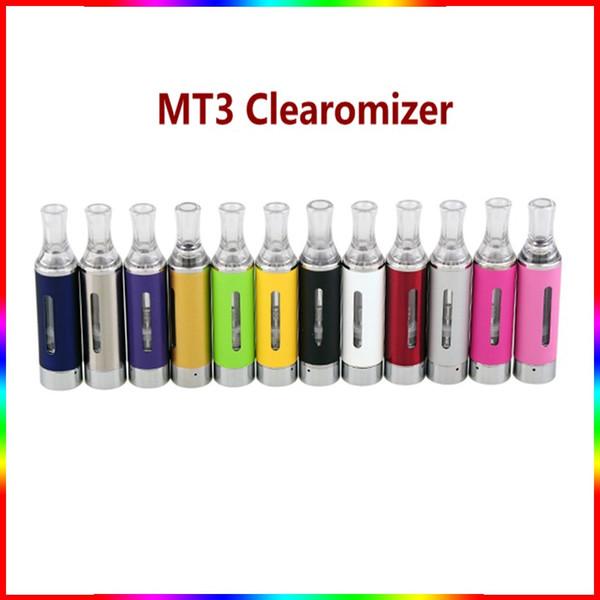 EVOD MT3 Clearomizer Cartomizer 2.4ml Vape Tank for evod ego t 510 Thread Battery Wick Coil e cigarettes vape oil cartridge colorful