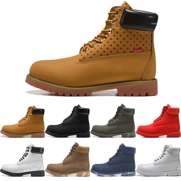 Cheap TBLTimberlandBoots Designer Luxury Men Women Boots Winter Boots Top Quality Womens Military Triple White Black Size 36 45 Shoe Sale Pumps